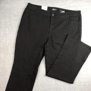Style & Co Jeans - Style & Co Black Boot Leg Jeans Plus Sz 16WP 18WP